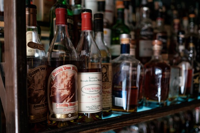 A glass of 20-year-old Pappy sells for $260 a glass at McCormack's Whisky Grill.