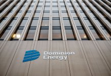 Dominion Energy's downtown Richmond building. (Ned Oliver/Virginia Mercury)